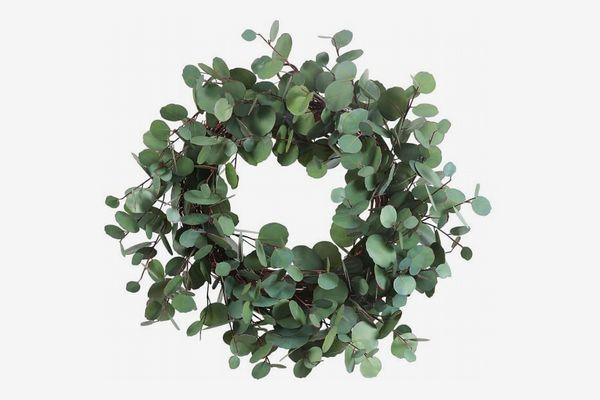 Pottery Barn Faux Eucalyptus Wreath