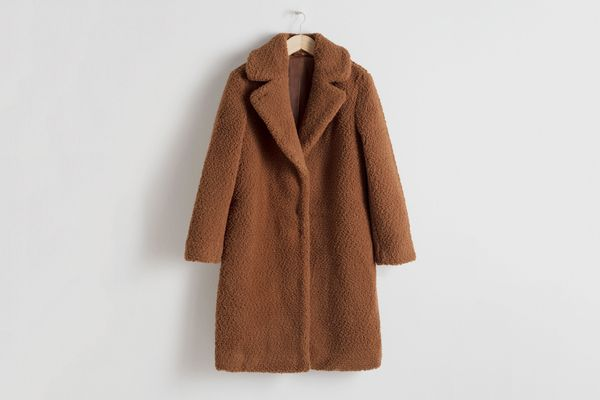 And Other Stories Faux Shearling Teddy Coat