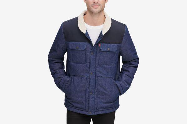 Levi's Men's Mixed Media Woodsman Jacket