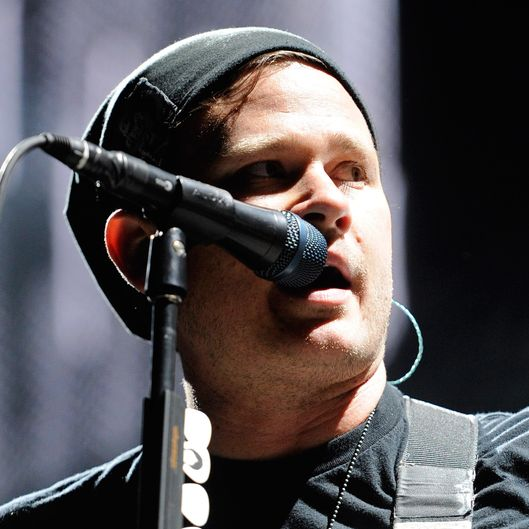 "Blink-182 performs at the Red Rock Casino as the band tours in support of the new album, ""Neighborhoods"" October 7, 2011 in Las Vegas, Nevada."