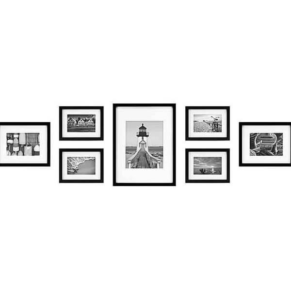 Bed Bath & Beyond 7-Piece Gallery Picture Frame Web in Black