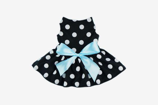 Fitwarm Cute Polka Dot Ribbon Dog Dress