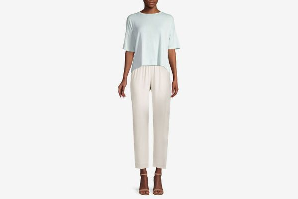 Eileen Fisher Short-Sleeve Drape Top