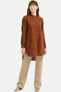 Uniqlo x Ines de la Fressange Linen Long-Sleeve Tunic