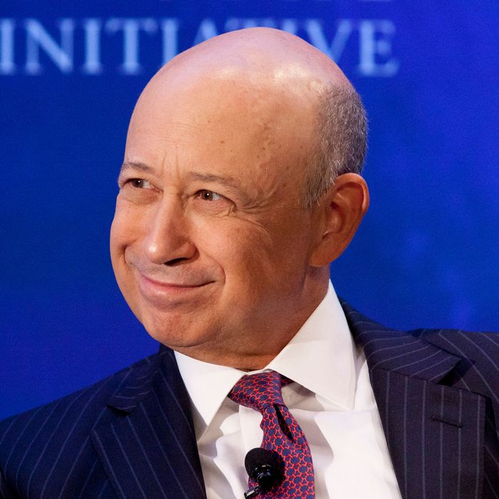 Lloyd Blankfein, Chairman and CEO of Goldman Sachs speaks at the