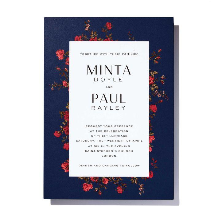 8 bold colorful wedding invitations