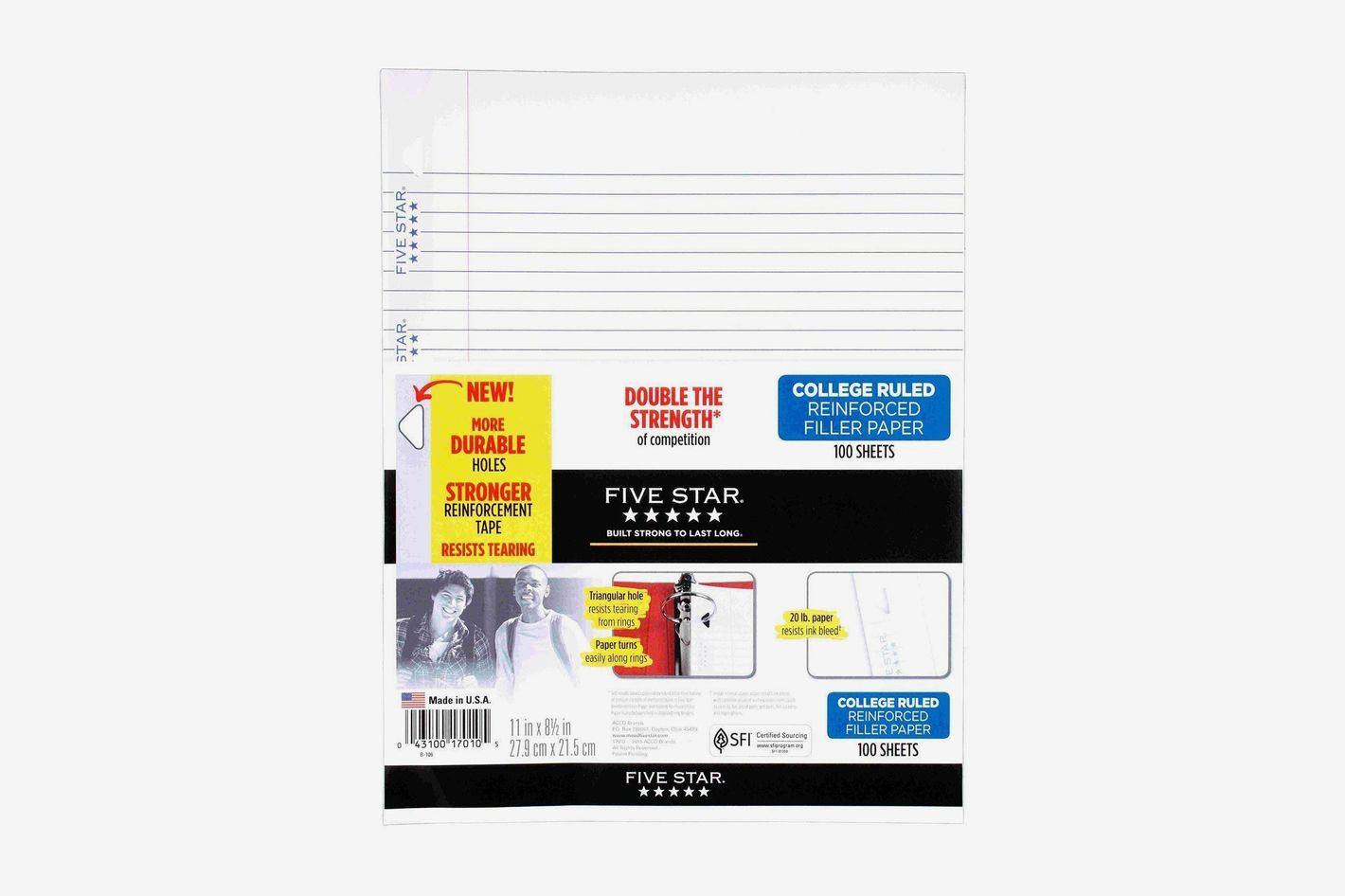 Five Star Filler Paper, College Ruled, Reinforced, Loose Leaf Paper