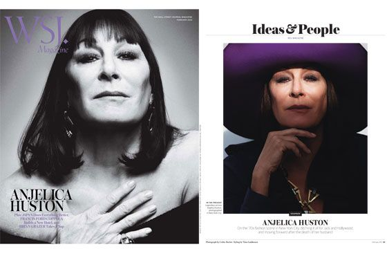 Anjelica Huston's <em>WSJ.</em> cover.
