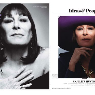 Anjelica Huston's <em>WSJ.</em> cover.