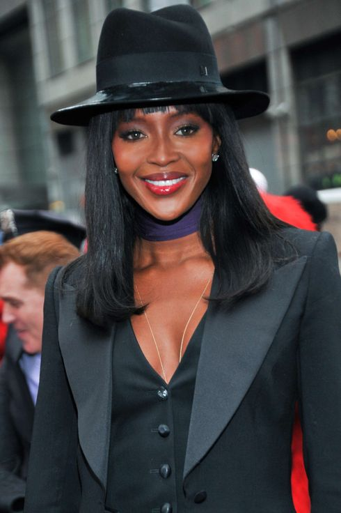 Naomi Campbell attends the closing bell at NASDAQ MarketSite on March 5, 2014 in New York City.