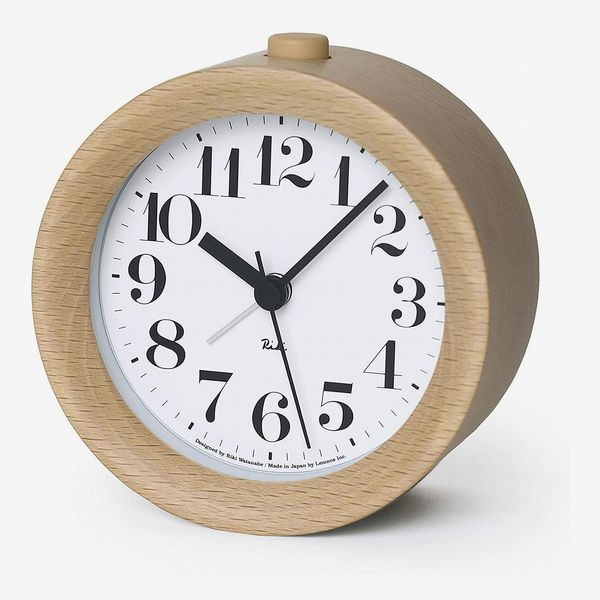 Lemnos Riki Wooden Alarm Clock Natural