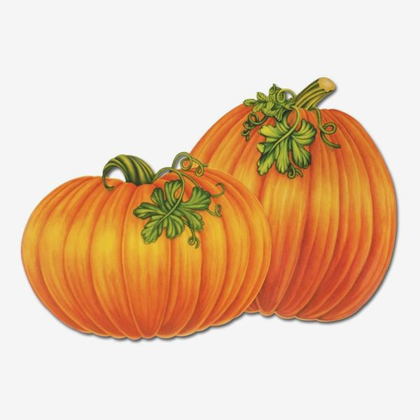 Beistle 4-Pack Decorative Packaged Pumpkin Cutouts, 16-Inch