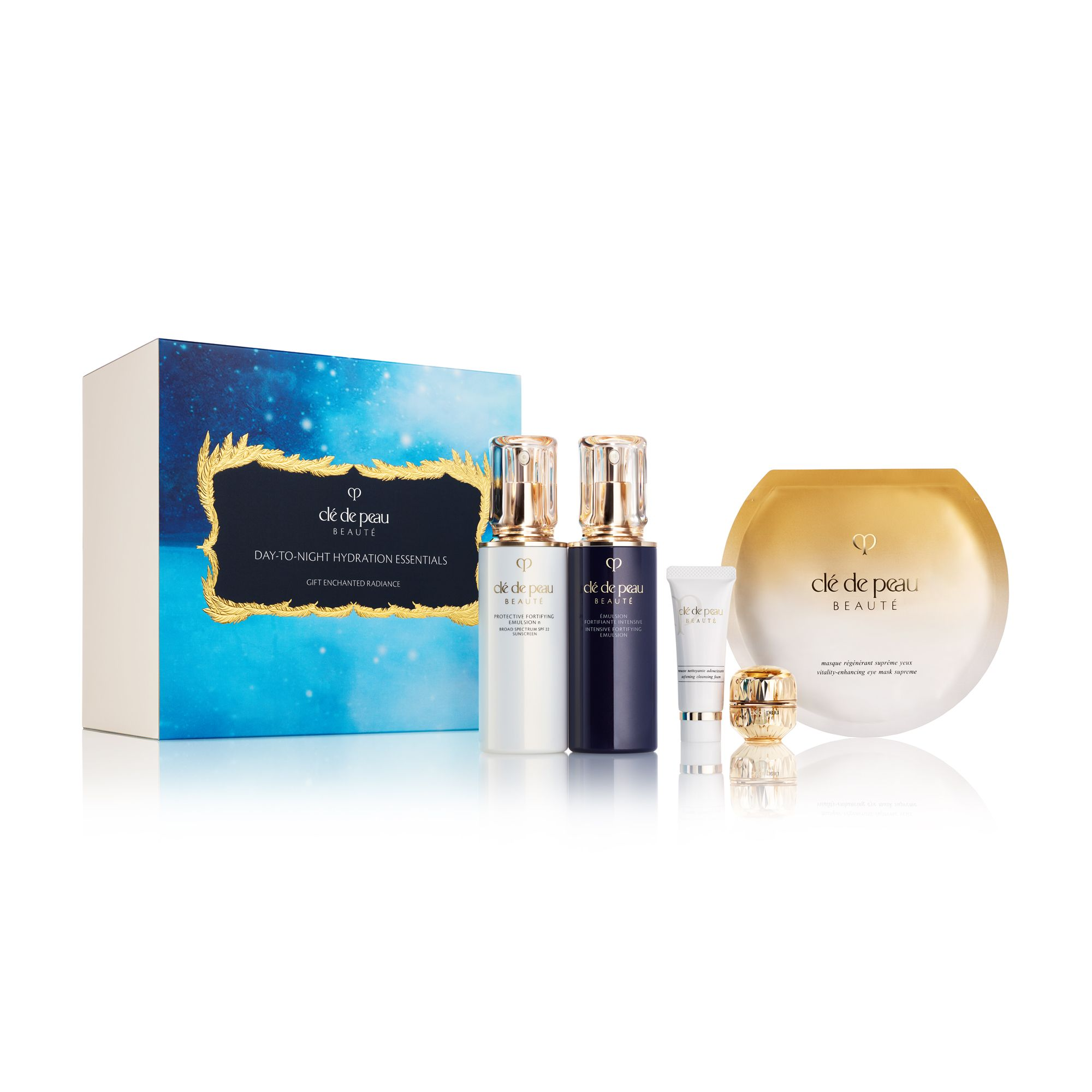 Clé de Peau Beauté Day-To-Night Hydration Essentials Day & Night 5-Piece Moisturizing Essentials Set