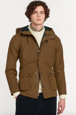Barbour White Label Oversized Hooded Bedale Jacket
