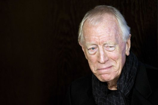 "Swedish-French actor Max von Sydow leaves after a photocall for the film ""Extremely Loud and Incredibly Close"" on February 10, 2012 in Berlin. The 62nd Berlinale, the first major European film festival of the year, kicked off on February 9, 2012, with 23 productions screening in the main showcase. AFP PHOTO / BARBARA SAX (Photo credit should read BARBARA SAX/AFP/Getty Images)"