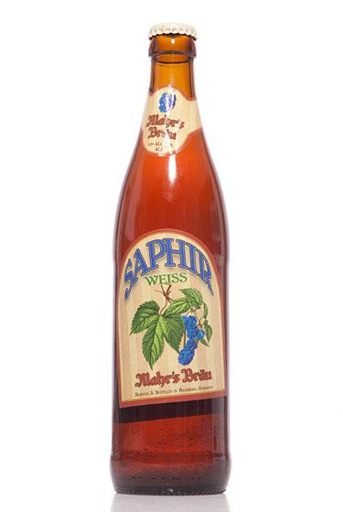 "Mahr's Bräu (Germany)<br>$6 for 16.9 oz. <br><strong>Type:</strong> Hefeweizen<br><strong>Tasting notes:</strong> ""A fruity wheat beer that uses Saphir hops. Super-tasty — a classic German wheat beer."" <br>—Lauren Canelli, manager, Spuyten Duyvil Grocery<br> <br>"