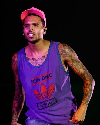 SYDNEY, AUSTRALIA - APRIL 15: Chris Brown performs live on stage during Supafest 2012 at ANZ Stadium on April 15, 2012 in Sydney, Australia. (Photo by Brendon Thorne/Getty Images)