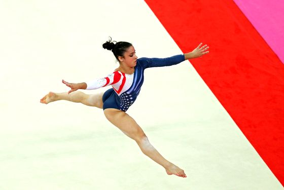 LONDON, ENGLAND - AUGUST 07:  Alexandra Raisman of the United States competes in the Artistic Gymnastics Women's Floor Exercise final on Day 11 of the London 2012 Olympic Games at North Greenwich Arena on August 7, 2012 in London, England.  (Photo by Hannah Johnston/Getty Images)