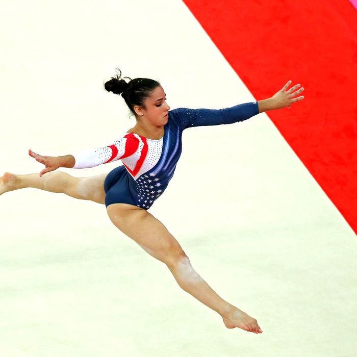 Alexandra Raisman of the United States competes in the Artistic Gymnastics Women's Floor Exercise final on Day 11 of the London 2012 Olympic Games at North Greenwich Arena