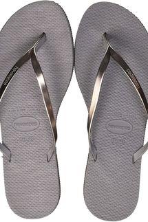 Havaianas Women's Metallic Flip Flops