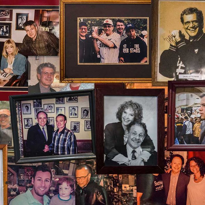 The old, framed celebrity photo: a true deli staple.