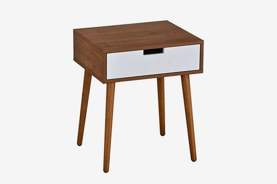 Very Economical Bedroom Nightstands eHomeProducts Light Walnut Nightstand