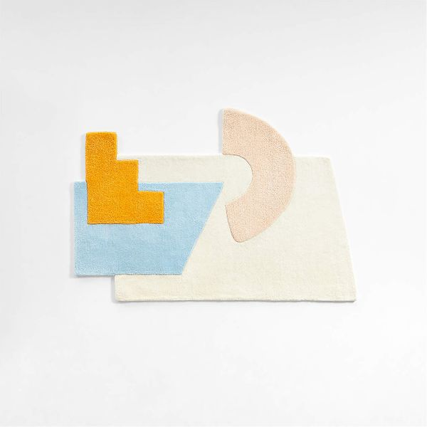 Crate & Kids Gromm Shape Abstract Rug