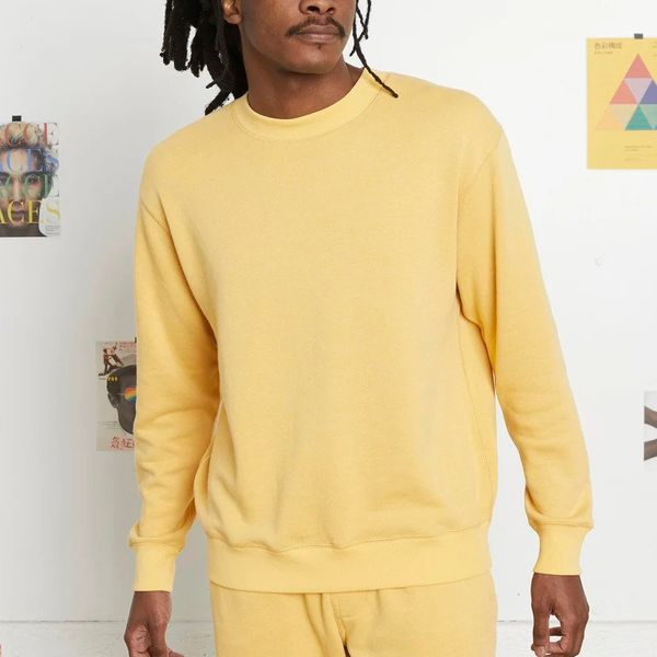 Entireworld Loop Back Sweatshirt, Mimosa Yellow