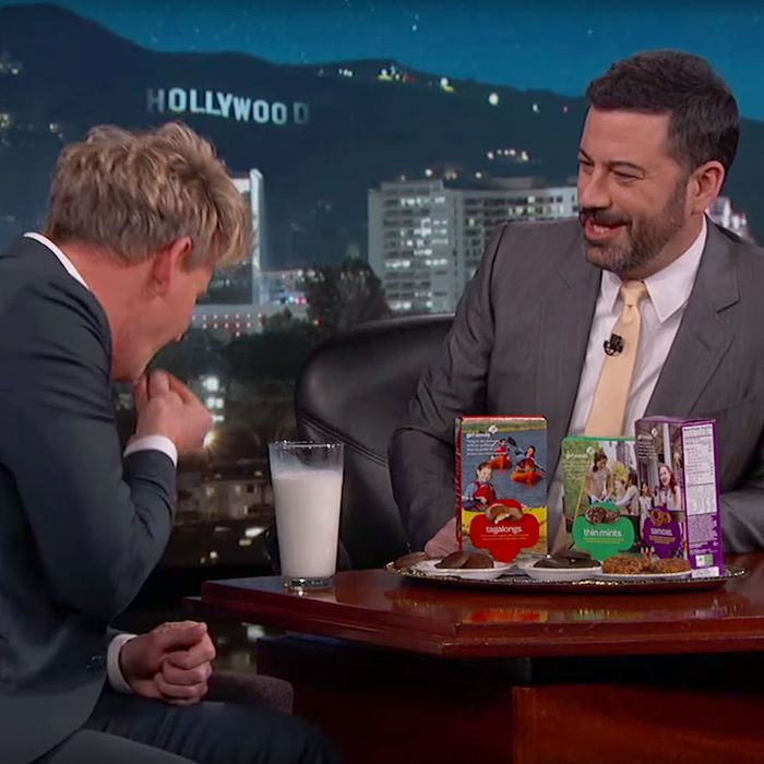 Gordon Ramsay has bad taste in cookies.