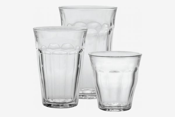 Duralex 18-Piece Clear Drinking Glasses & Tumbler Set