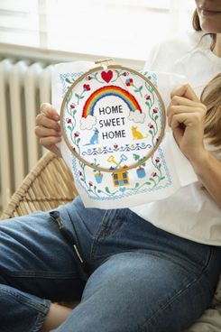Wool and the Gang Home Sweet Home Cross Stitch Kit