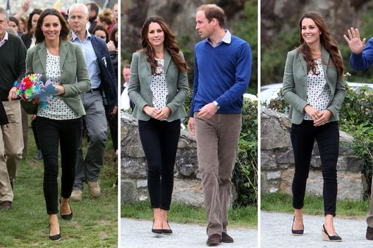 Catherine, Duchess of Cambridge and Prince William, Duke of Cambridge attend the start of  The Ring O'Fire Anglesey Coastal Ultra Marathon on August 30, 2013 in Holyhead, Wales.