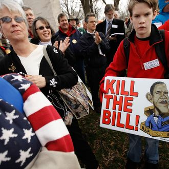WASHINGTON - MARCH 16: Several hundred demonstrators gather for a