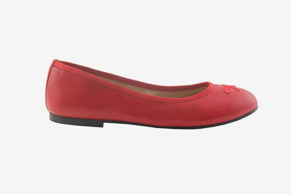 French Sole Kathy Red Leather Shoe