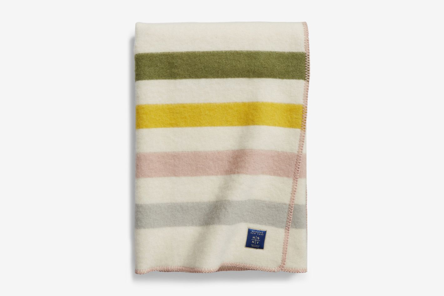 Hawkins New York Stripe Wool & Cotton Throw Blanket