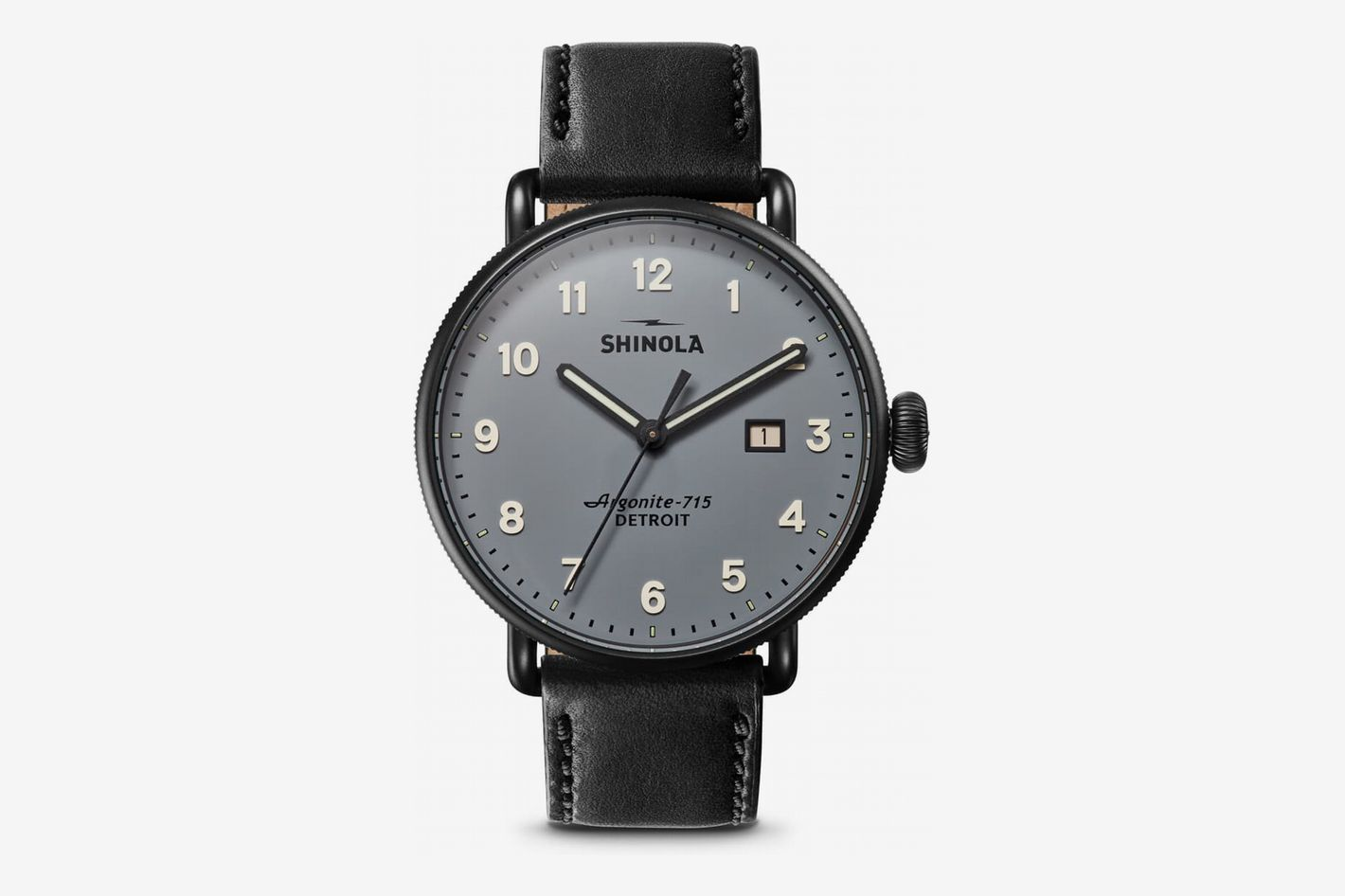 Shinola The Canfield Leather Strap Watch, 43mm