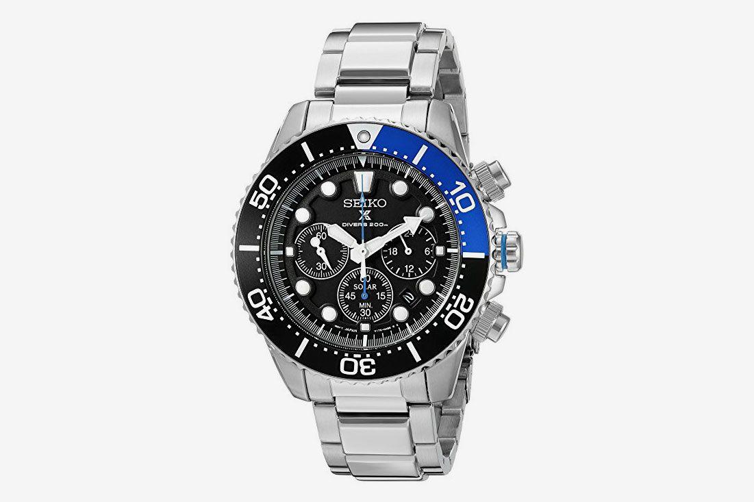 e2cbc36ee61 Seiko Men s Prospex Analog Japanese Quartz Solar Stainless Steel Dive Watch
