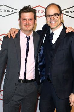 """NEW YORK, NY - APRIL 07:  (L-R) Writer of the Netflix series ?House of Cards"""", Beau Willimon and actor Michael Kelly attend Ars Nova Diamond Ball at Guastavino's on April 7, 2014 in New York City.  (Photo by Astrid Stawiarz/Getty Images)"""