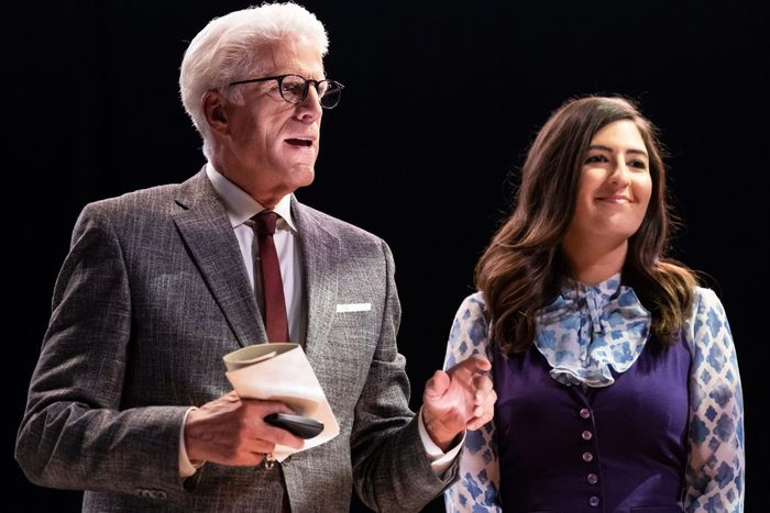 Ted Danson as Michael and D'Arcy Carden as Janet.