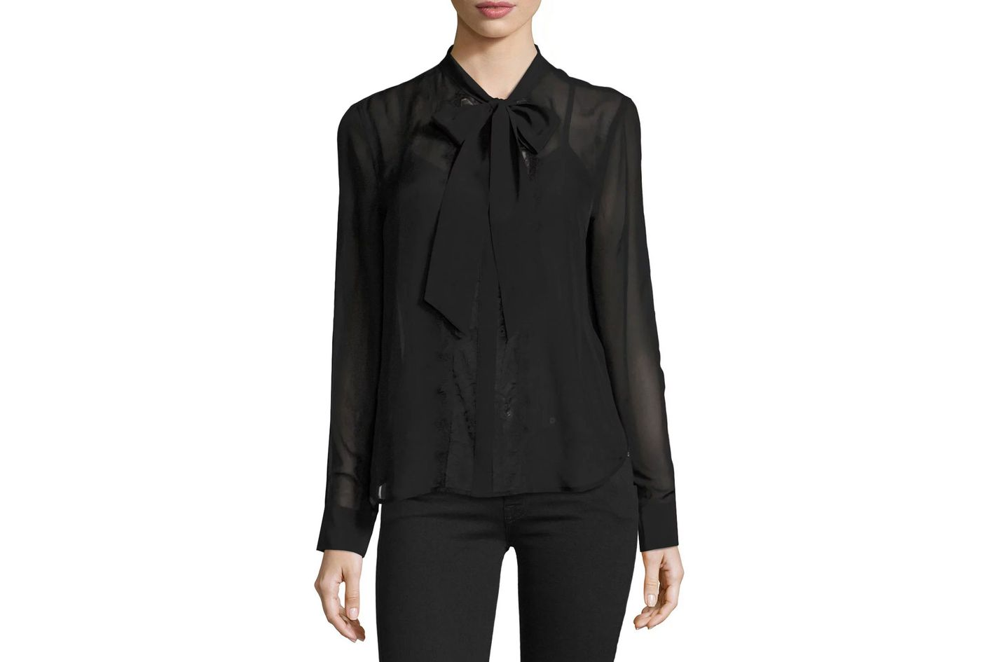 Equipment Leema Tie-Neck Blouse