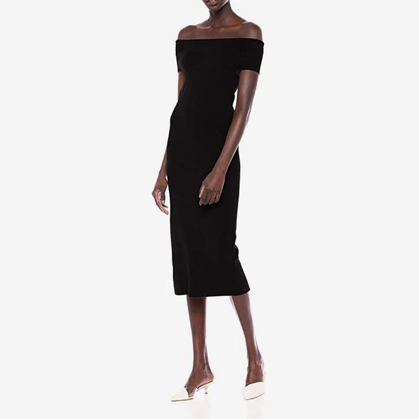 Lark & Ro Women's Off the Shoulder Sheath Sweater Dress