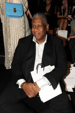 NEW YORK, NY - SEPTEMBER 15: Andre Leon Talley attends the Marc Jacobs Collection - Spring 2012 Front Row at N.Y. State Armory on September 15, 2011 in New York City.  (Photo by Dimitrios Kambouris/Getty Images for Marc Jacobs)