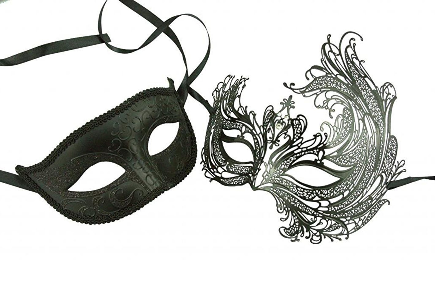 KAYSO INC Original Lover's Collection — Couple's Masquerade Mask Set