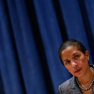 Susan Rice, the U.S. Permanent Representative to the United Nations, listens to a question at a press conference at the UN December 2, 2010 in New York City.   Rice is taking over the rotating UN Security Council presidency for the month of December, and she briefed reporters about the Council's plans until the end of the year.