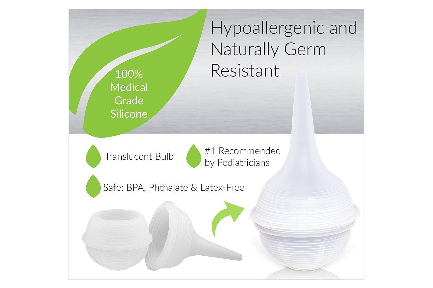 Innovo Hospital Grade Silicone Twister Bulb Baby Nasal Aspirator