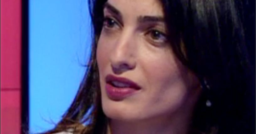 amal clooney meet the press interview with donald
