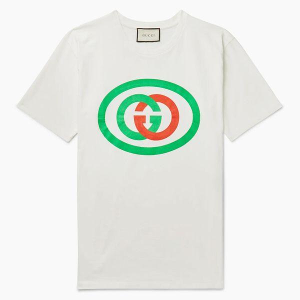Gucci Oversized Logo-Print Cotton-Jersey T-Shirt