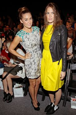 NEW YORK, NY - SEPTEMBER 09:  Lauren Conrad (L) and Mandy Moore attend the Lela Rose Spring 2013 Mercedes-Benz Fashion Week Show at The Studio Lincoln Center on September 9, 2012 in New York City.  (Photo by Steve Mack/FilmMagic)