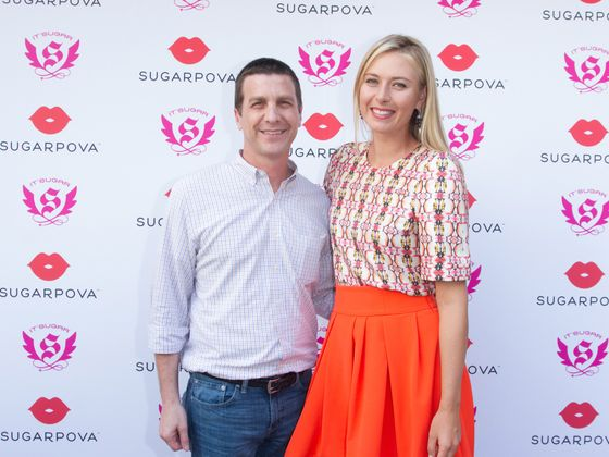 Rubin, left, convinced Maria Sharapova to put her name on a line of gummies and tennis gum balls.