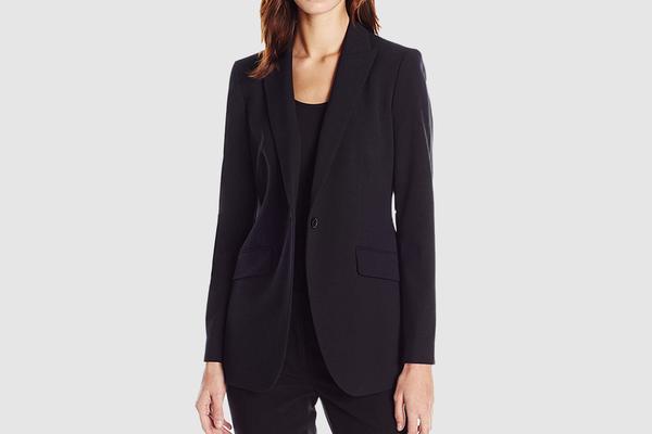 Anne Klein Women's Long 1 Button Jacket